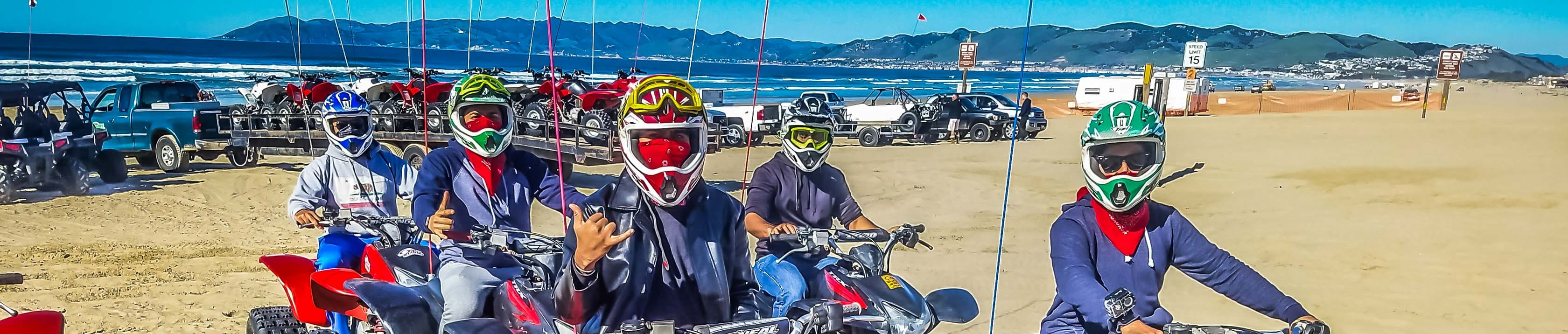 Group of riders on ATVs