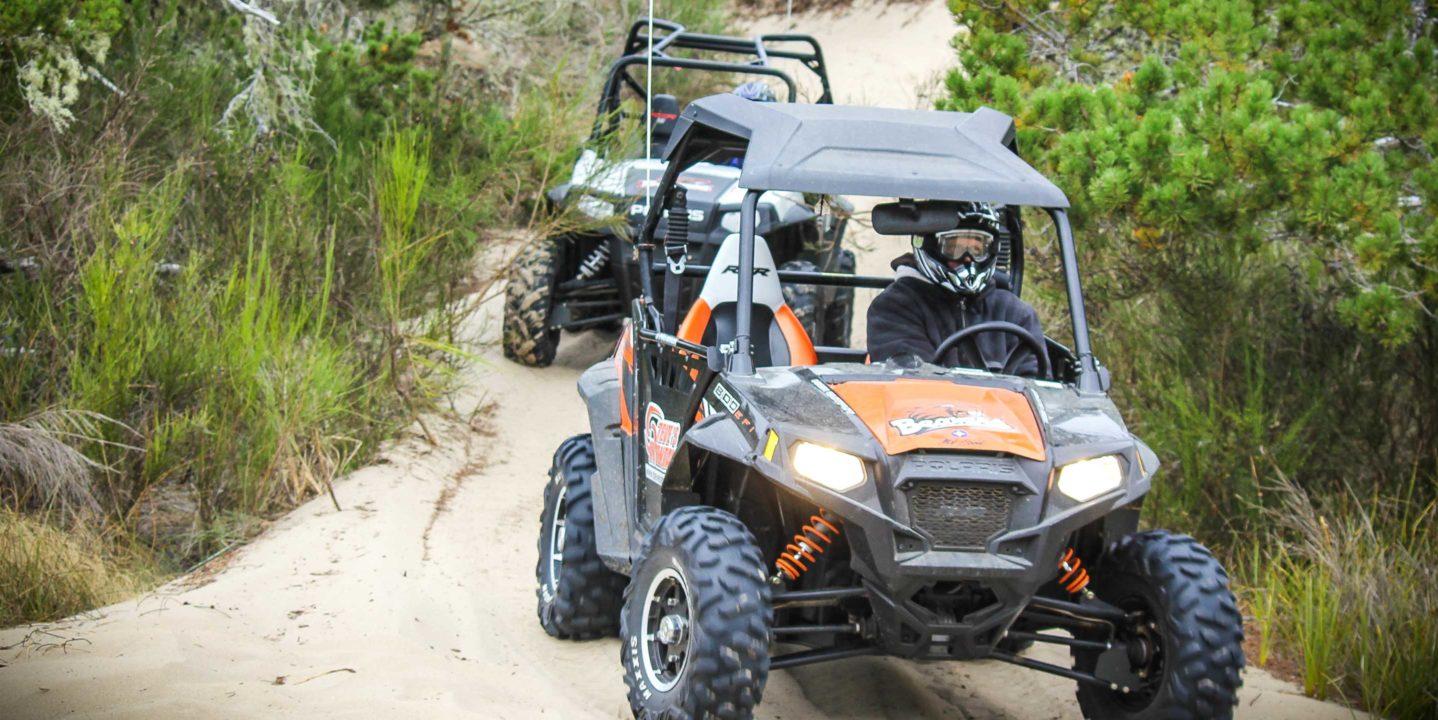 Guest riding ATVs through Oregon Dunes