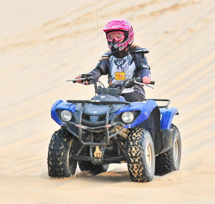 Woman riding a beginner's ATV in Oregon