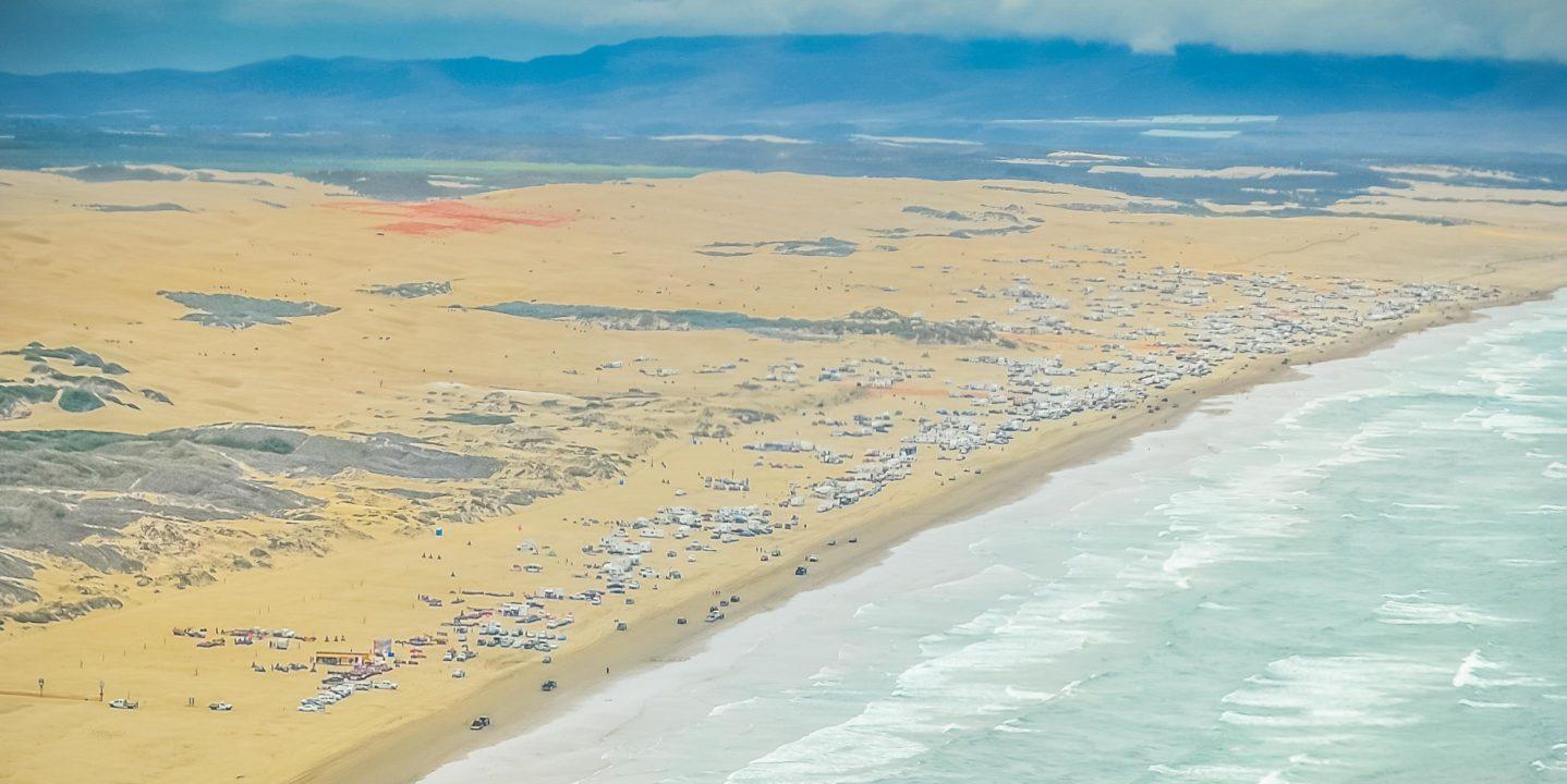 Aerial of Pismo Beach coast