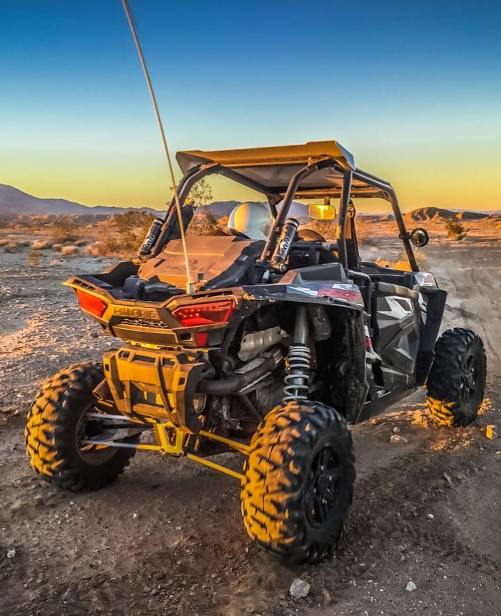 Guest parked and sitting in a Polaris RZR xp4 1000cc watching the sunset in Palm Springs, CA