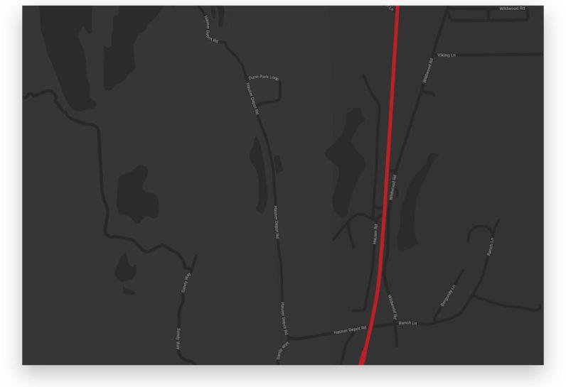Oregon Dunes map