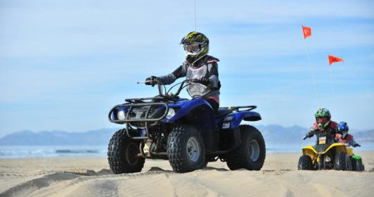 Guest riding a Steve's ATV rental
