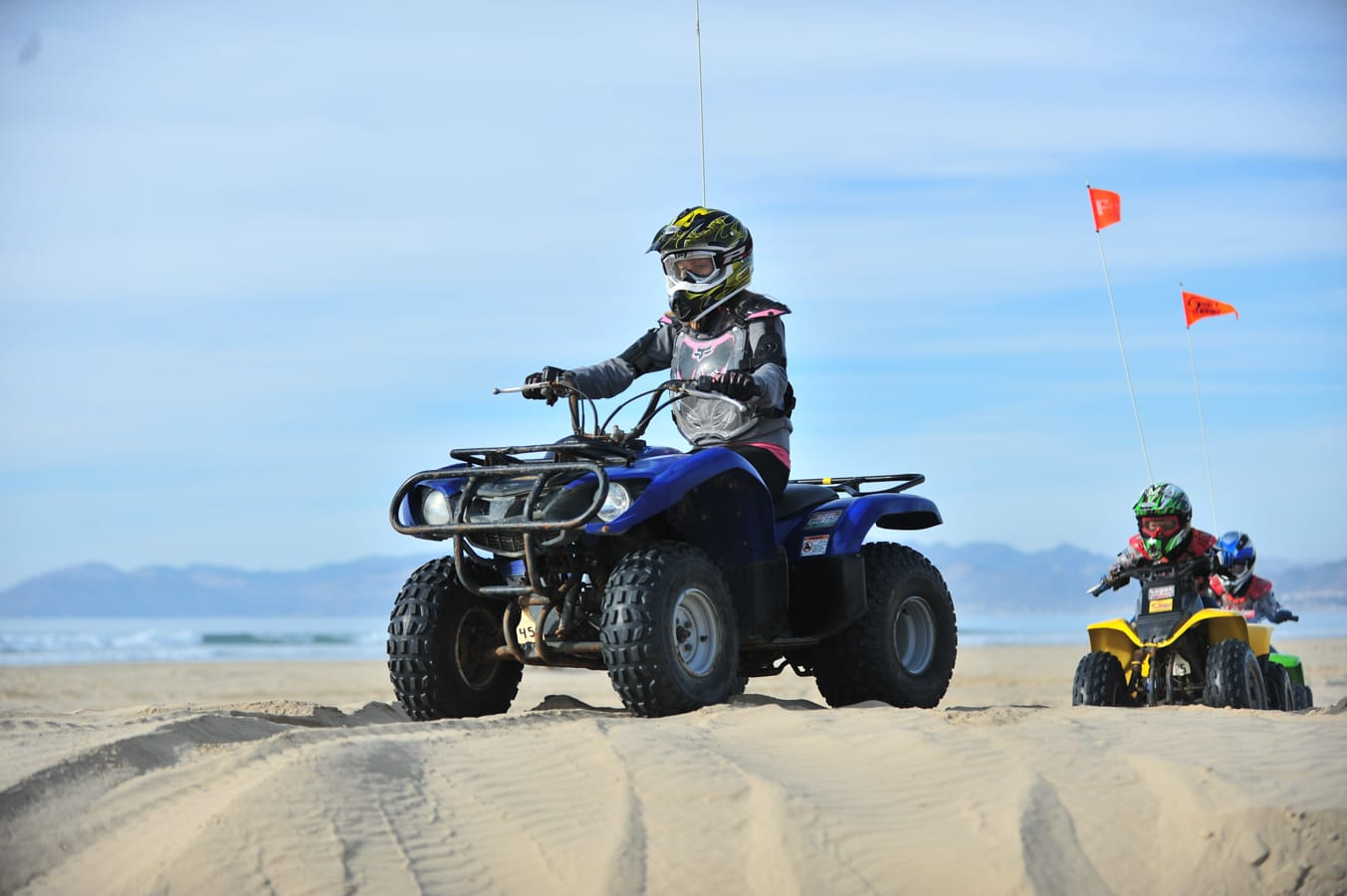 Guest riding a Steve's ATV rental