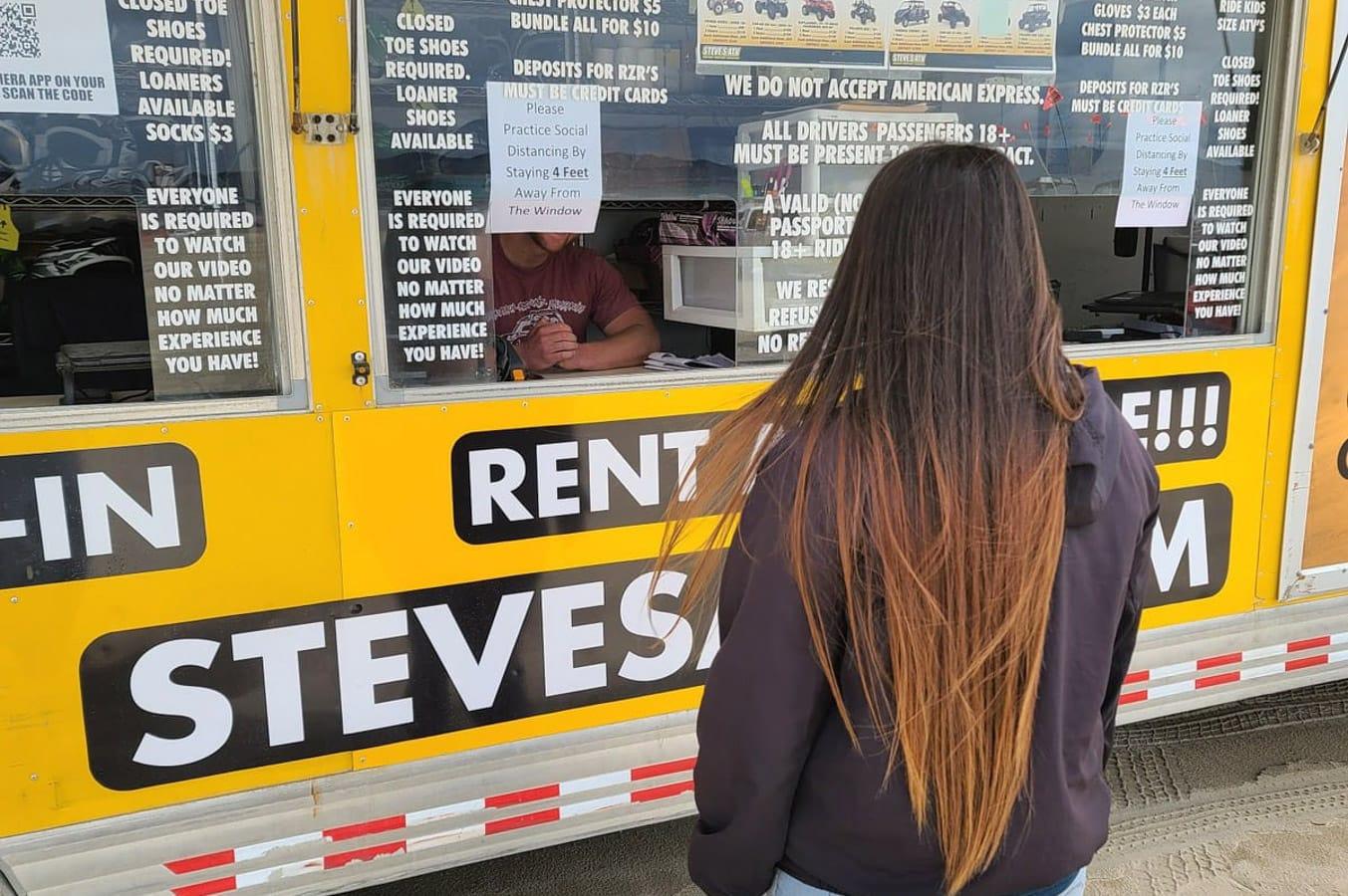 Woman at Steves Rentals